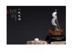 一帆风顺—白玉帆船